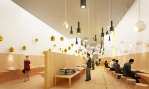 Rirkrit Tiravanija, bookshop, rendering (Artek, Venice Biennale 2009)