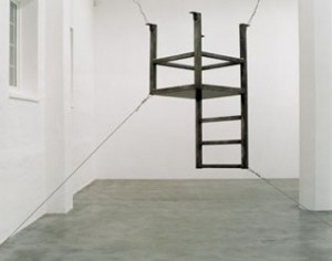 Bruce Nauman, Untitled, 1987 (Suspended Chair, Vertical III)