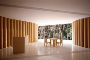 Shigeru Ban's Paper House, Lake Yamanaka, Yamanashi, Japan