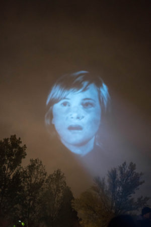Tony Oursler, The Influence Machine, 2016. Photo: Jean-Baptiste Béranger